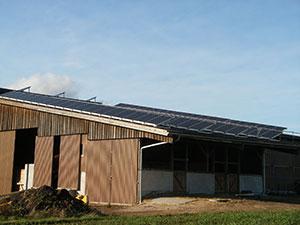 Aufständerung 39 kWp, landwirtschaftlicher Betrieb